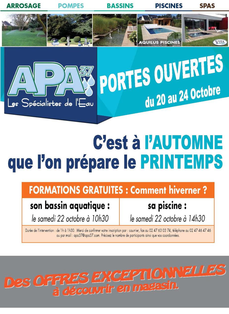 PROMOTION PORTES OUVERTES ARROSAGE PISCINE POMPES SPAS BASSIN APA37