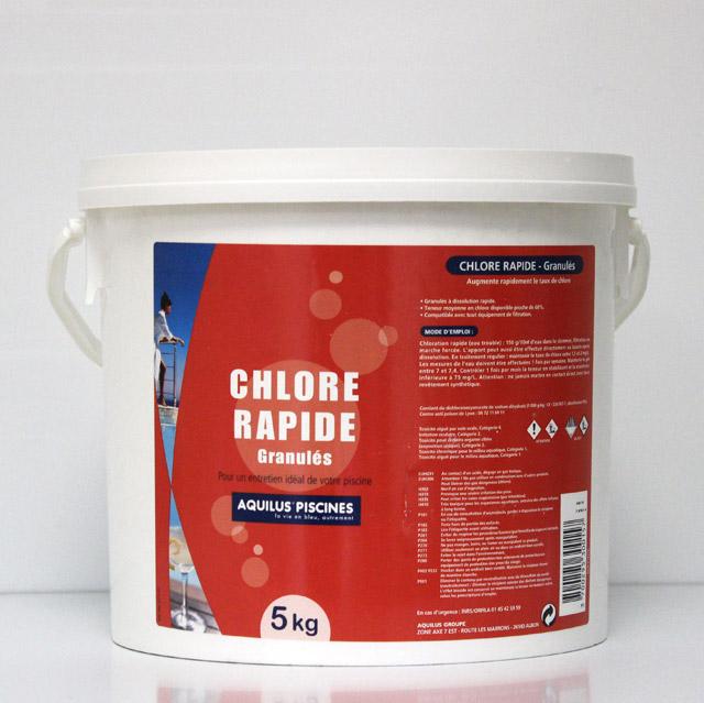 Chlore rapide granulés 5 Kgs