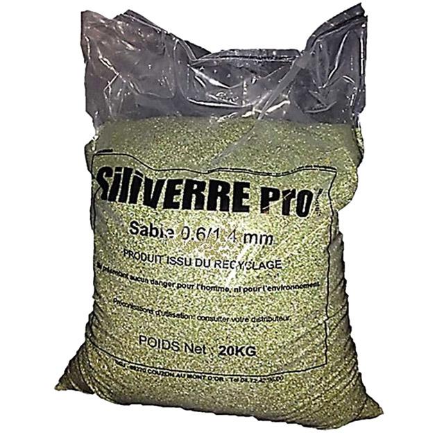 Sable de verre pour filtration piscine - sac de 20 kg