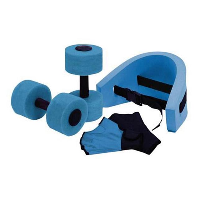 Kit Aquagym : ceinture. gants et haltères